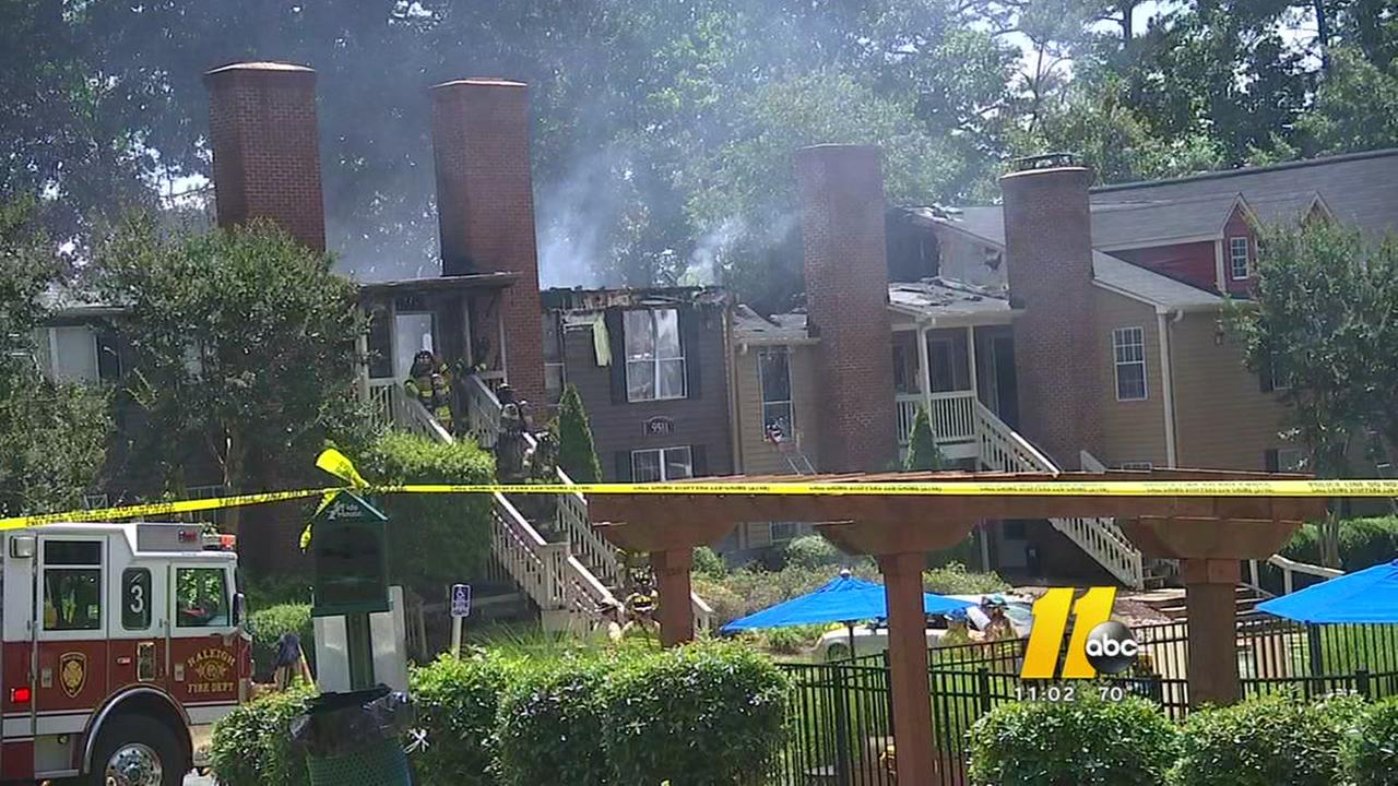 Raleigh townhome fire displaces 19