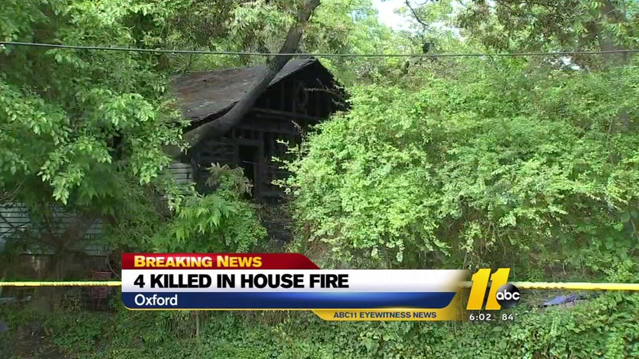 4 dead in Oxford house fire, authorities say
