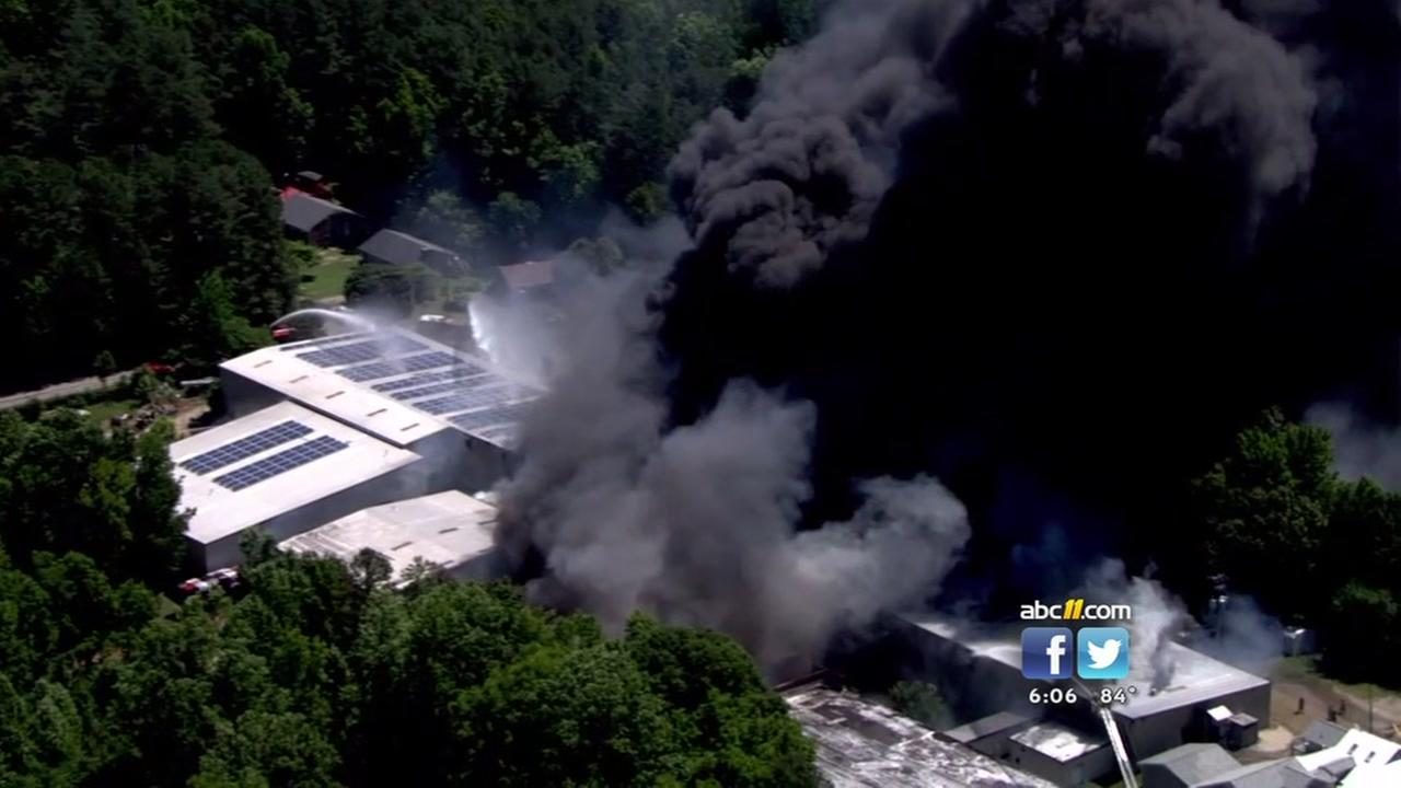 Fire destroys Henderson factory