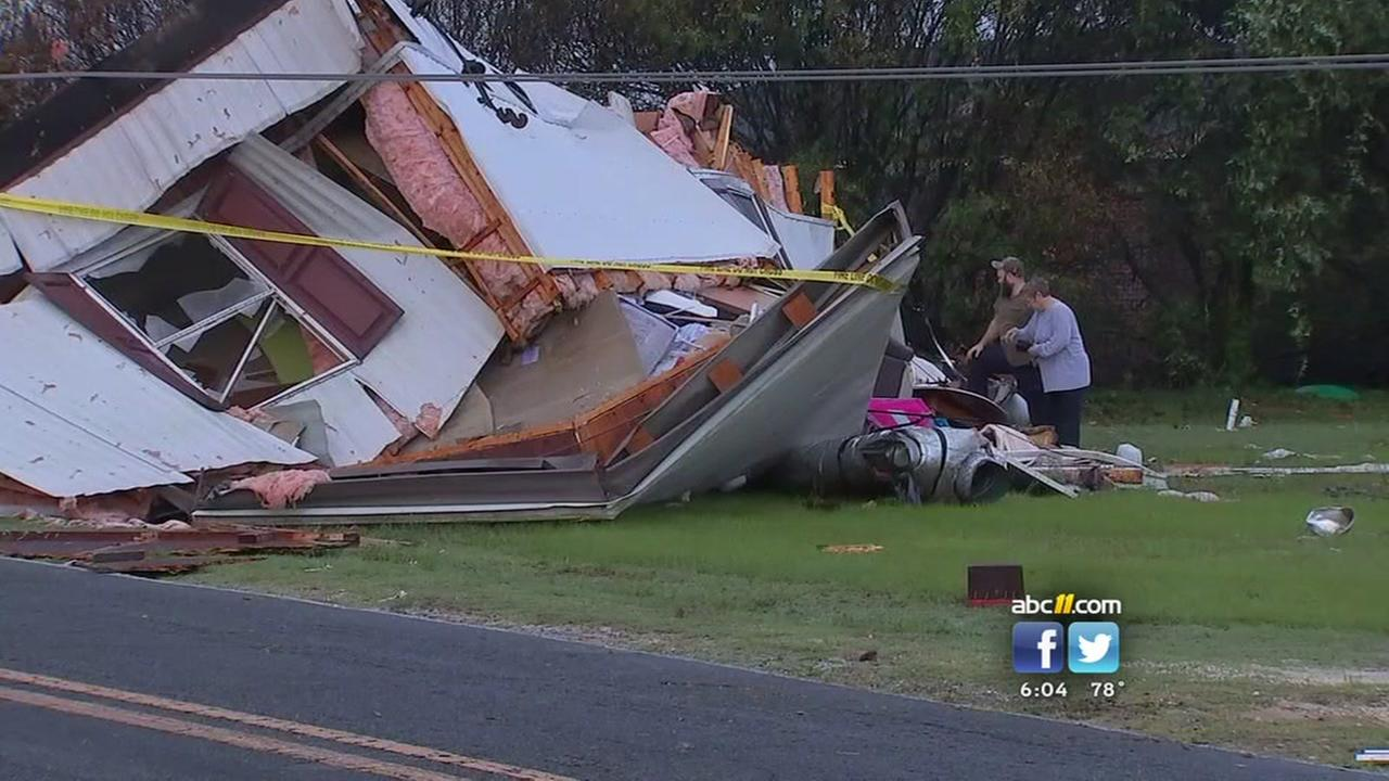 Cleanup underway after Sampson County storm