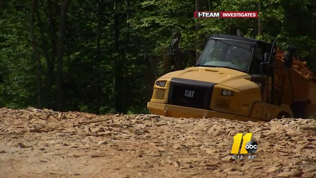 Inspector visits construction site near shaking Raleigh homes