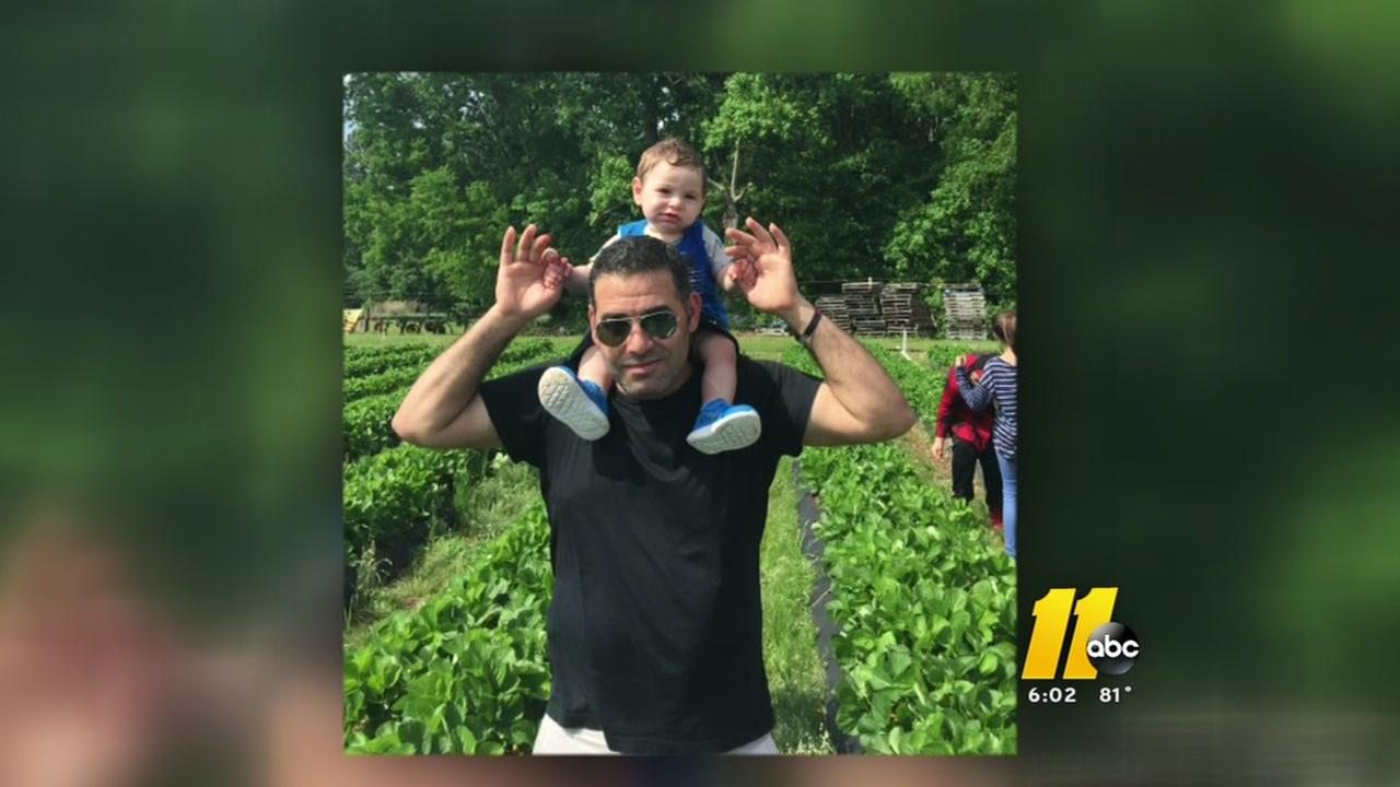 Mosa Hamadeesa, seen with his son, is being held in an ICE detention facility in Georgia after immigration officials arrested him the morning of June 1.