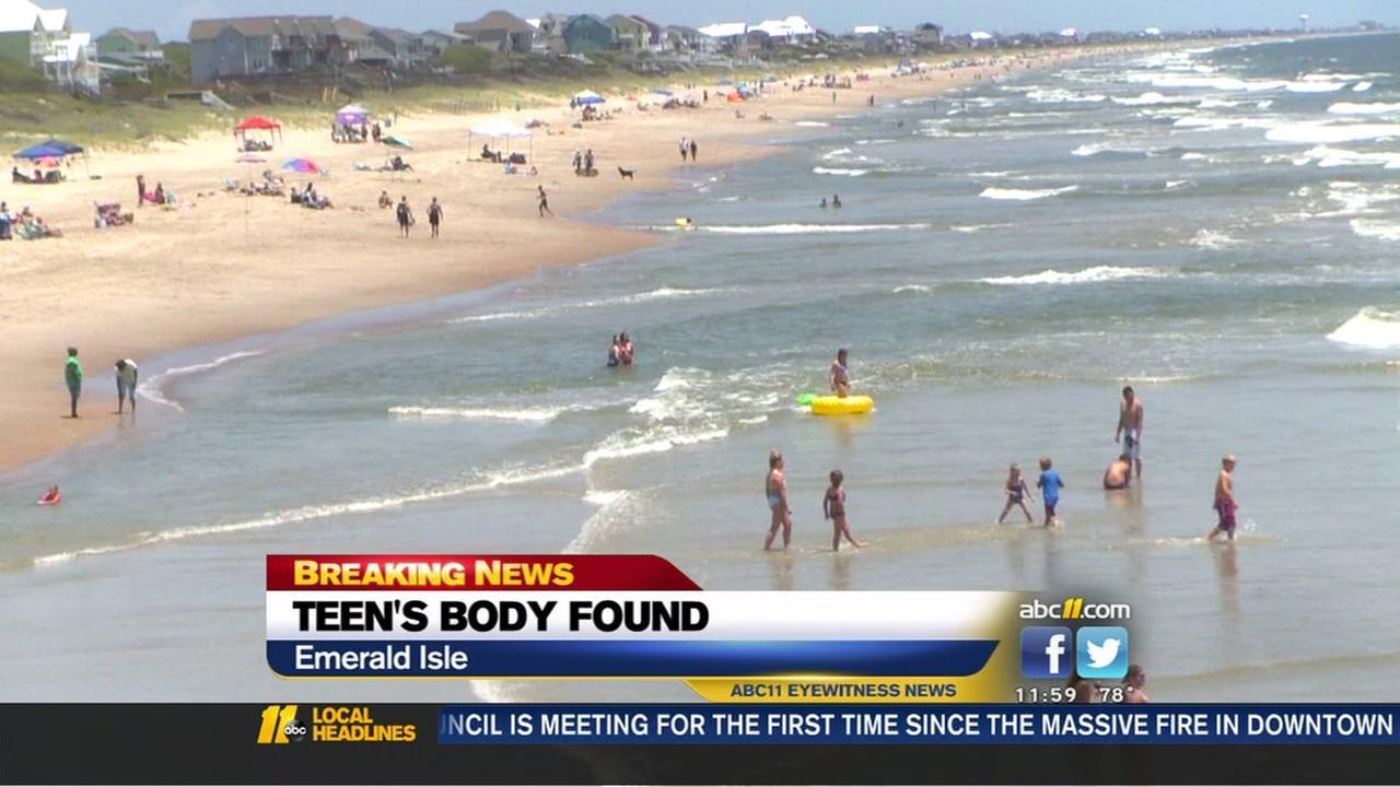 Body of missing Wayne County teen found off Emerald Isle