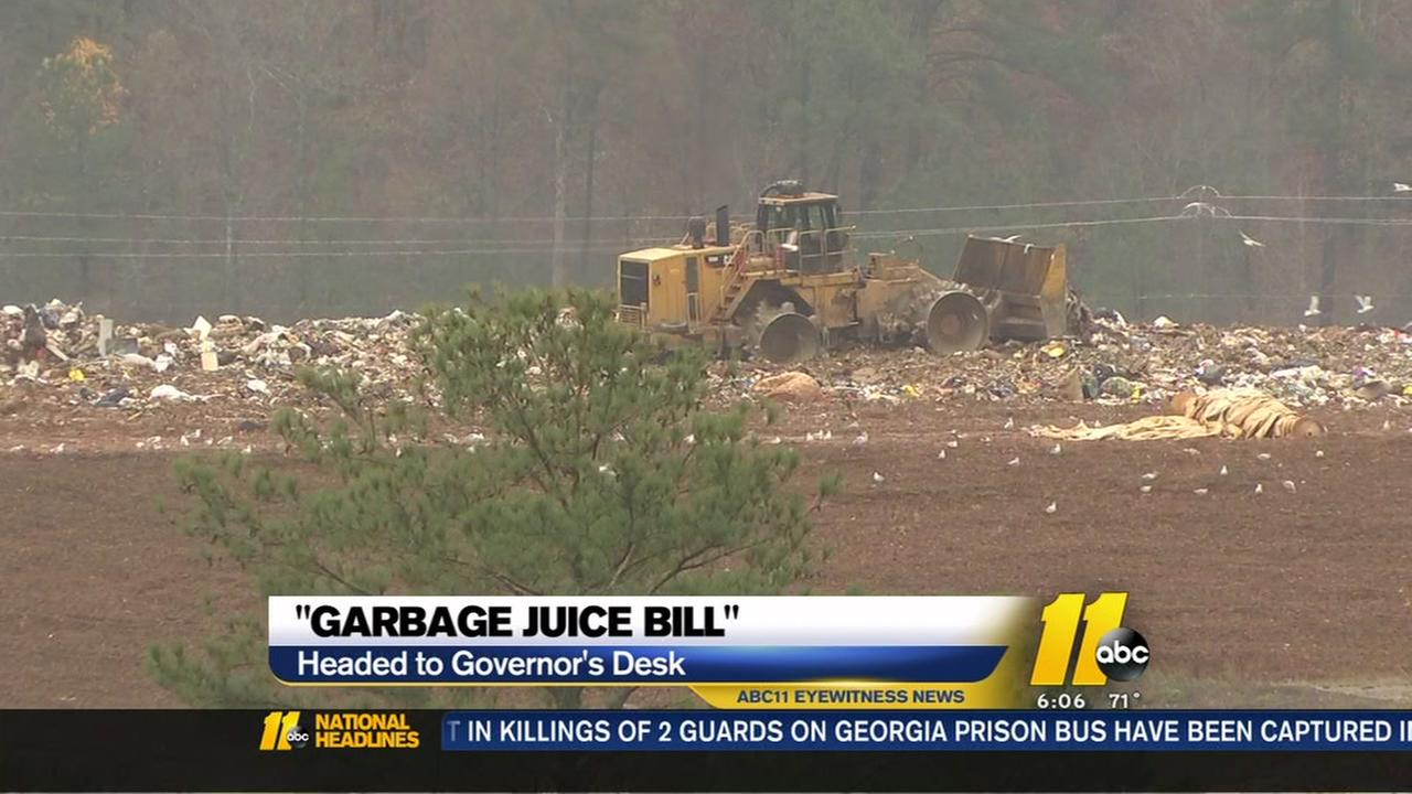 Landfills want to spray 'garbage juice the air?