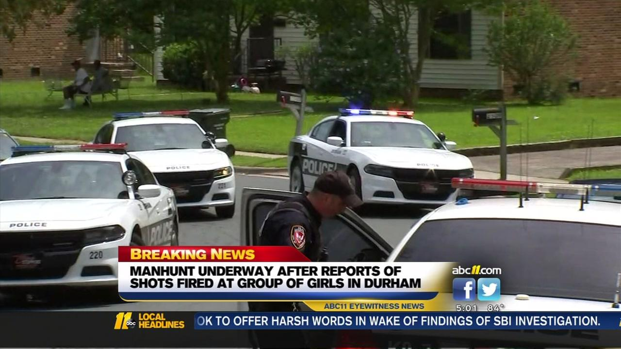 Durham manhunt underway after man tried to shoot at group of girls, police say