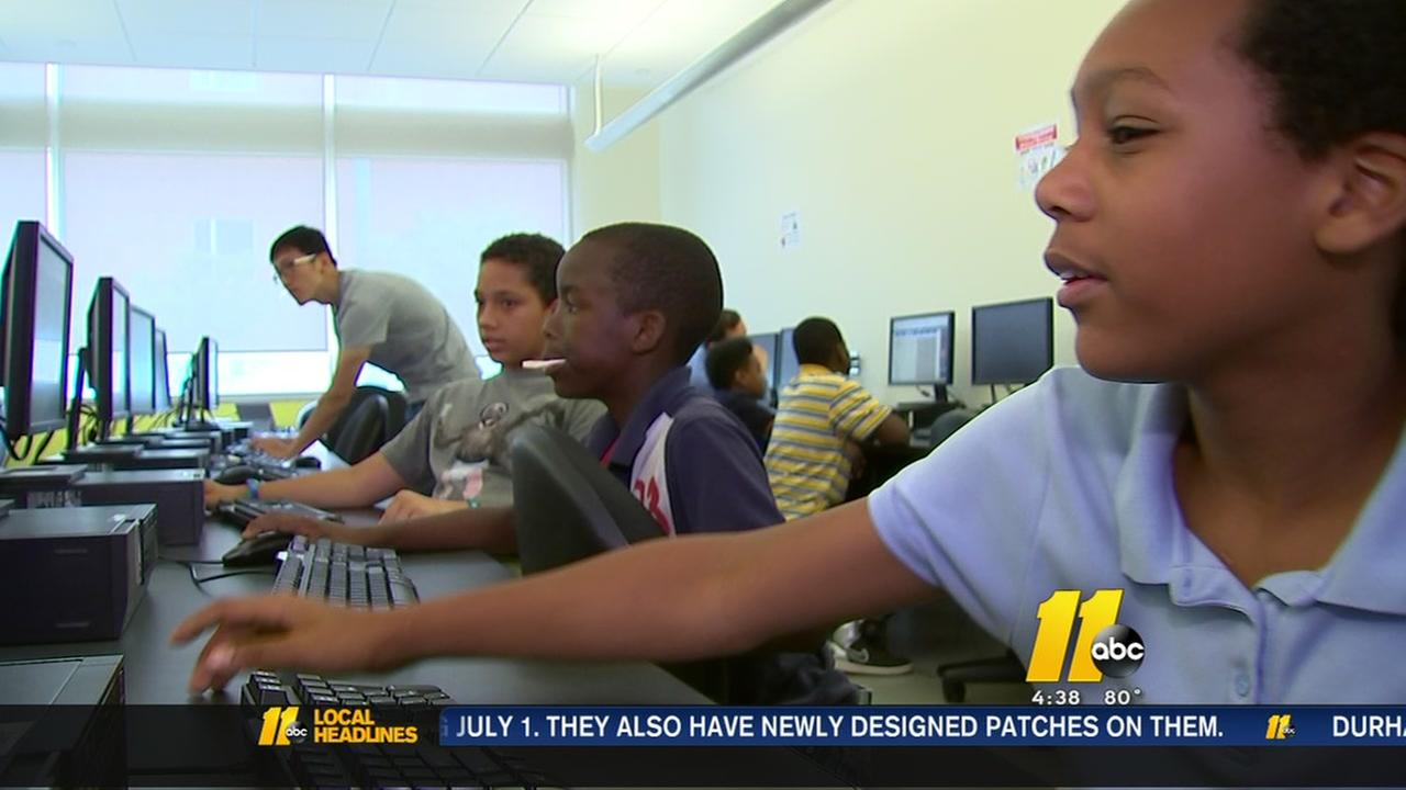 Kids learn coding at NC State computer camp