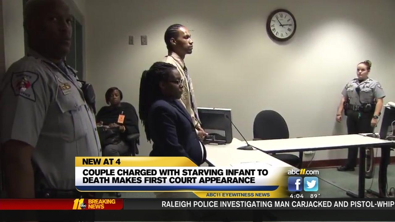 Couple charged with starving infant makes court appearance
