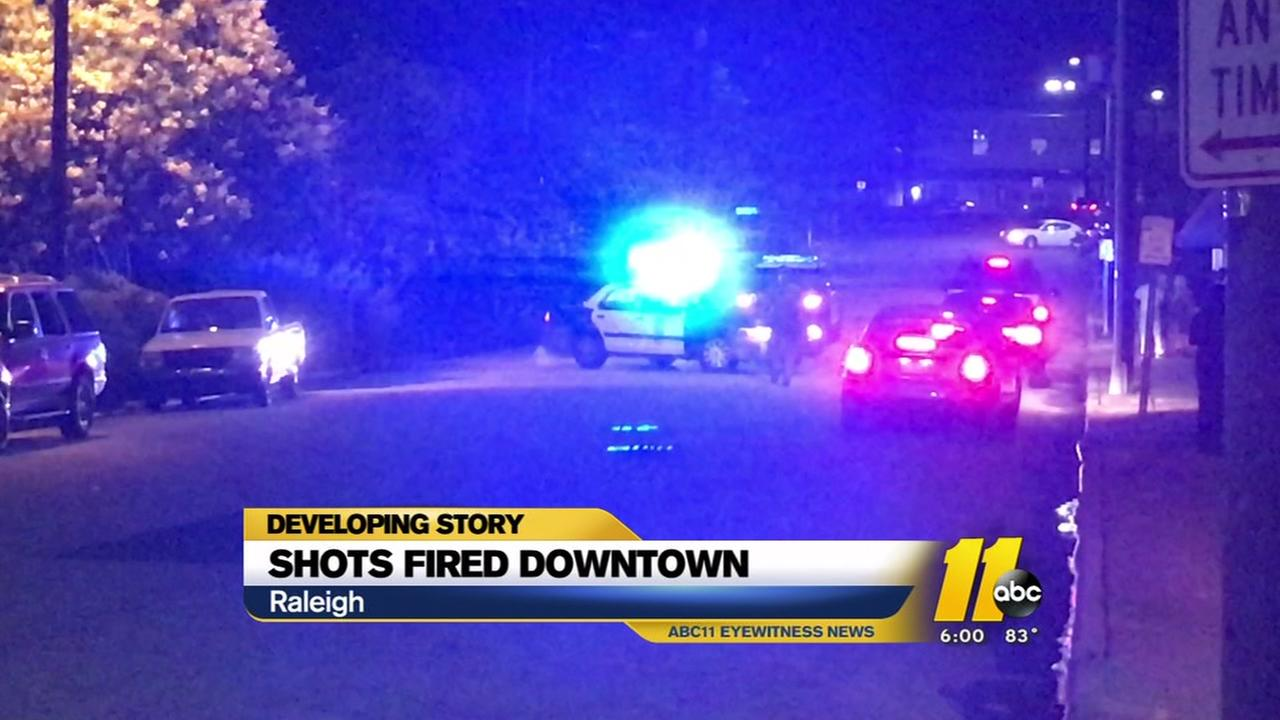 20 to 30 shots fired in downtown Raleigh