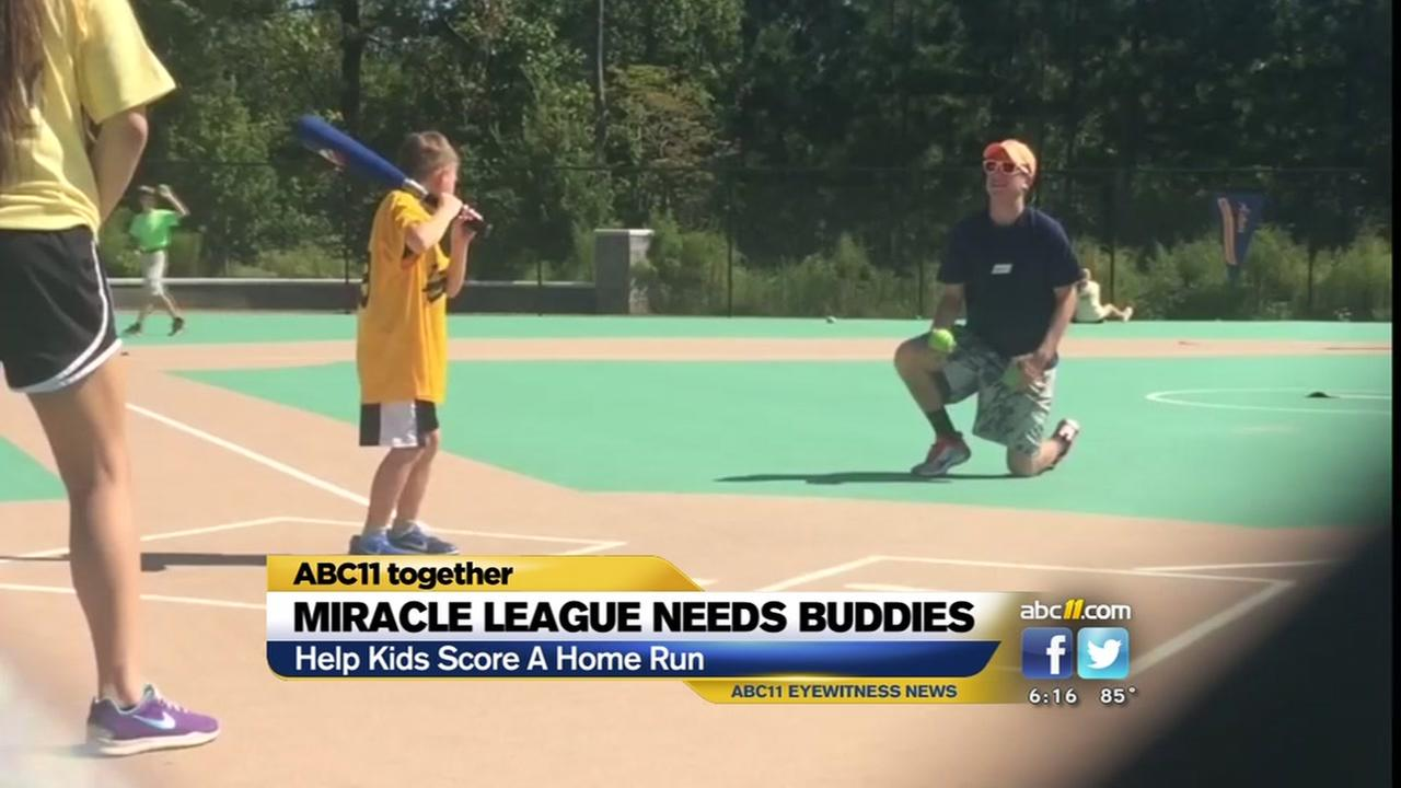 Miracle League seeks buddies for special needs baseball league