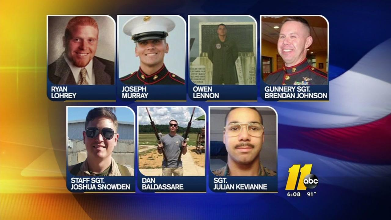 7 based at Camp Lejeune identified after crash
