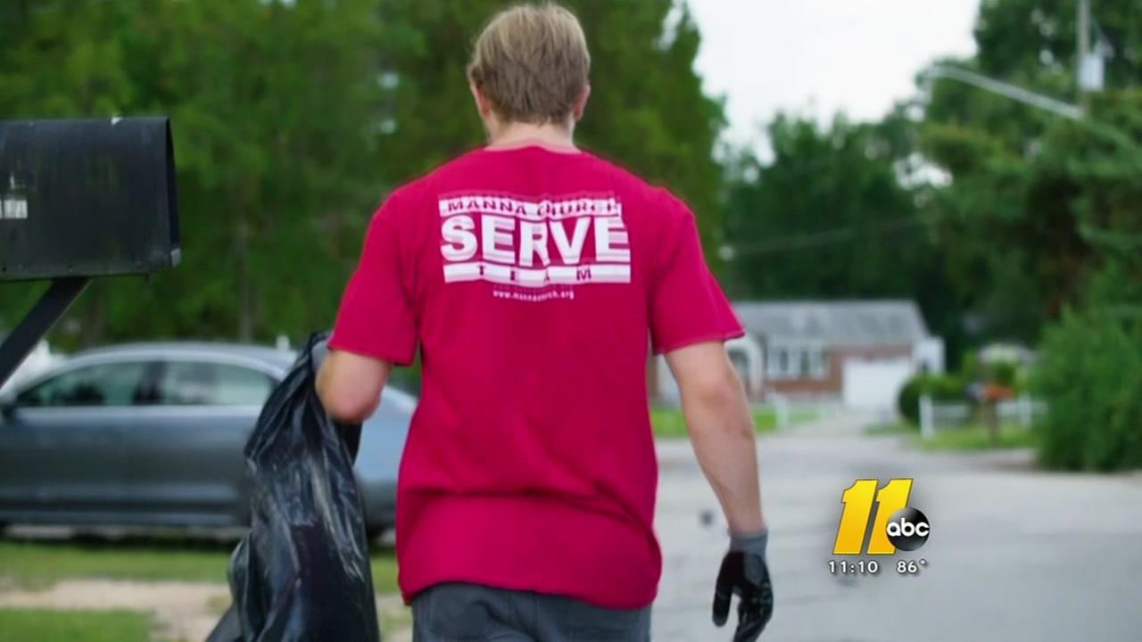 Manna Church volunteers will help a Fayetteville neighborhood still recovering from Matthew on Saturday.