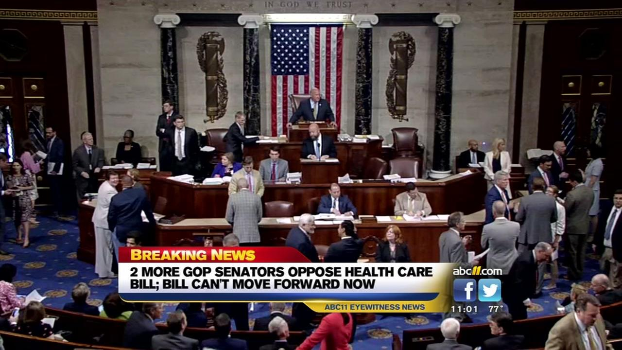 Health care bill hits a roadblock
