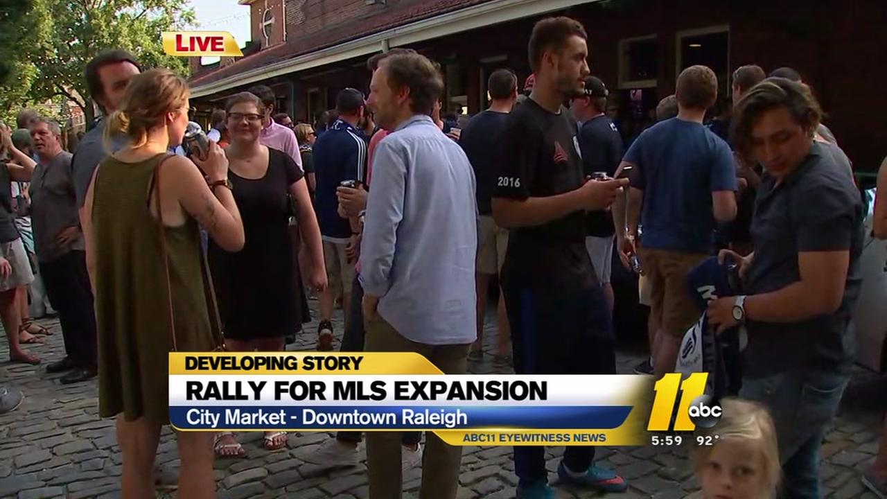 Rally on for MLS team in Raleigh
