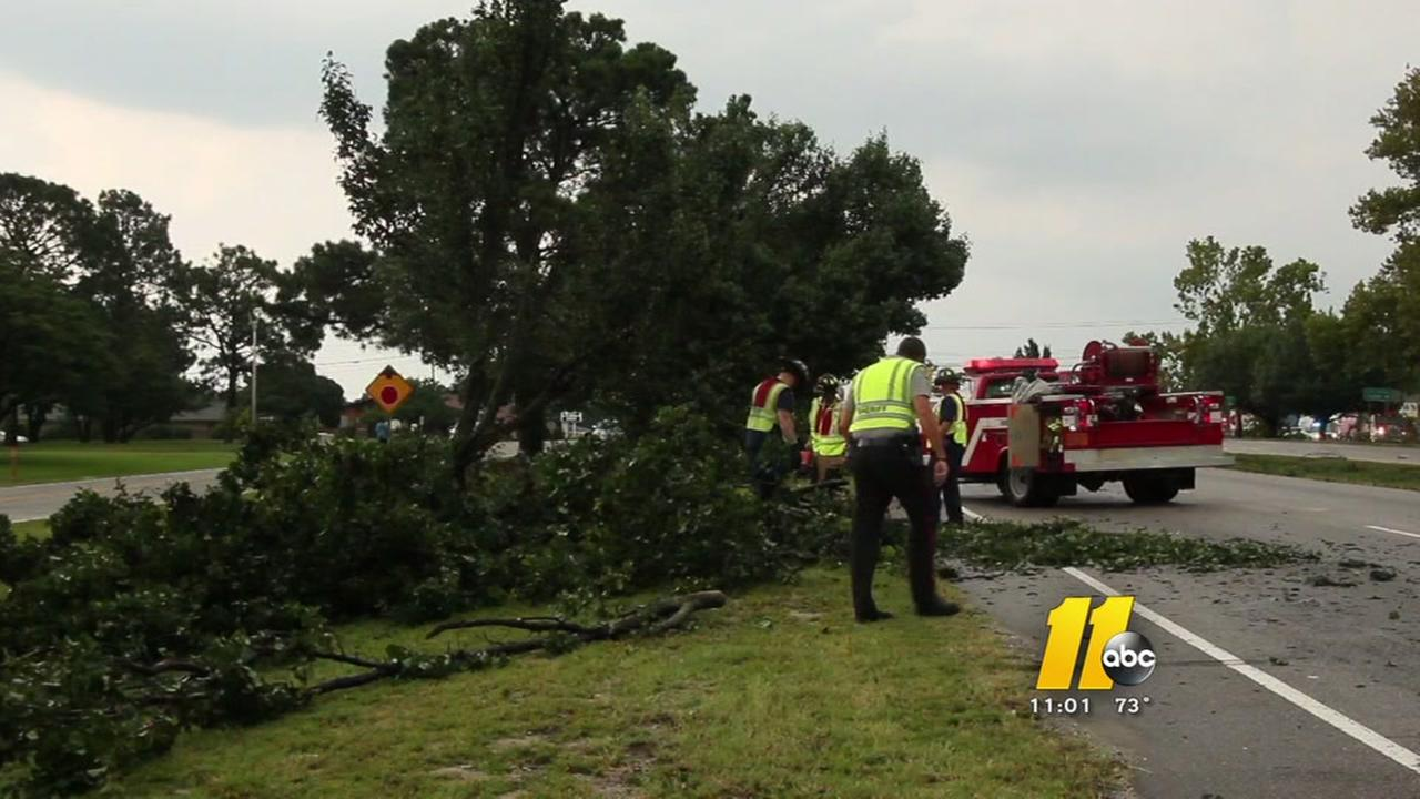 Thunderstorms damage church, home in the Triangle