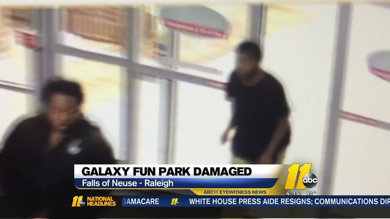 Galaxy Fun Park break-in suspects caught on video