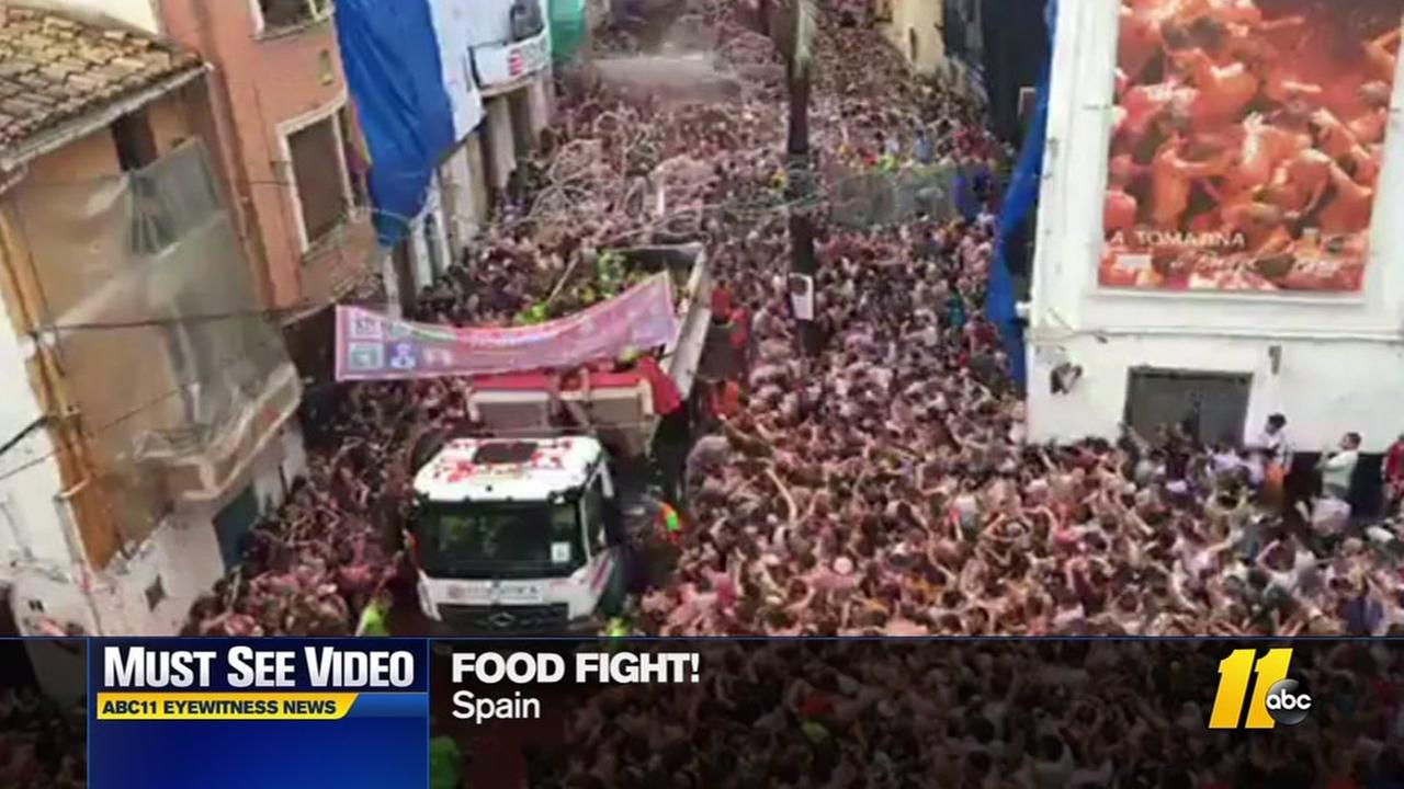 The Tomatina festival in Spain