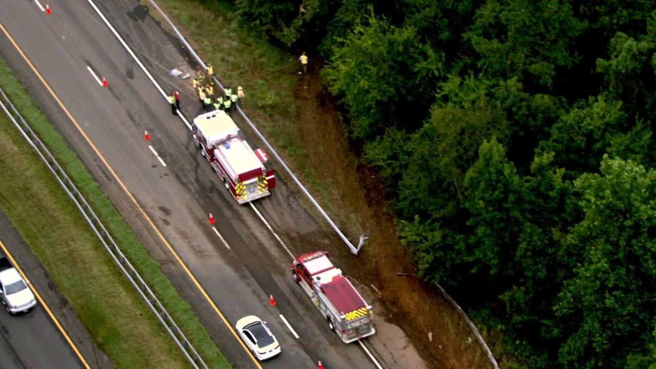 I-85 northbound closed by crash involving tanker in Orange County