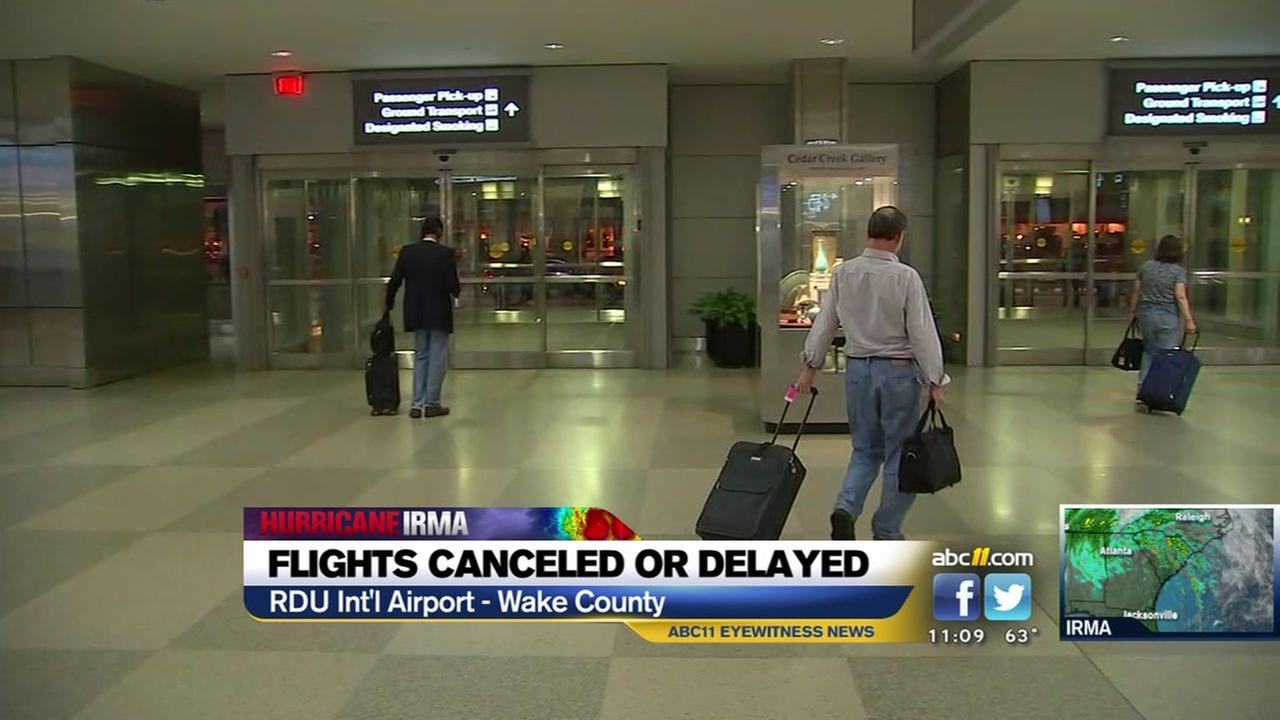 Irma disrupts air travel