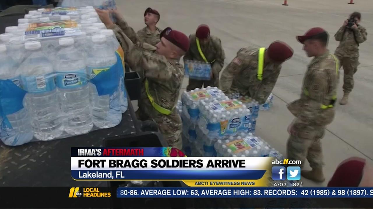 Fort Bragg troops send help to Florida