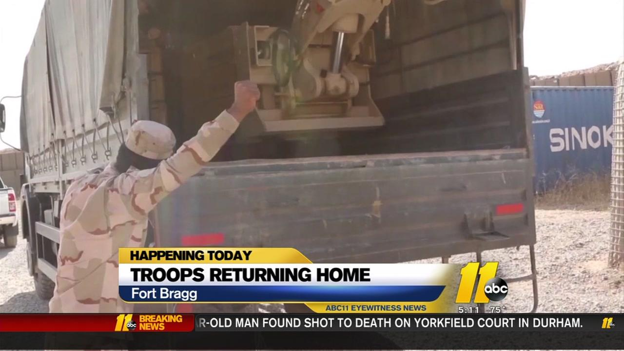 Troops returning home