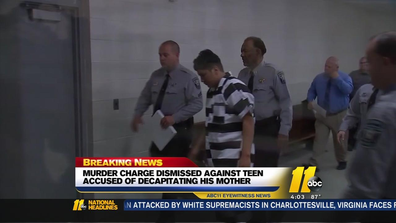 Charges dismissed against NC teen accused of decapitating mother