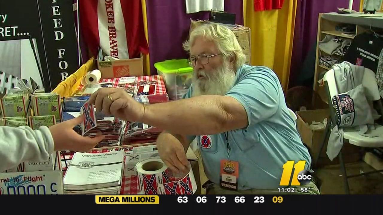 Confederate stickers spark debate at State Fair