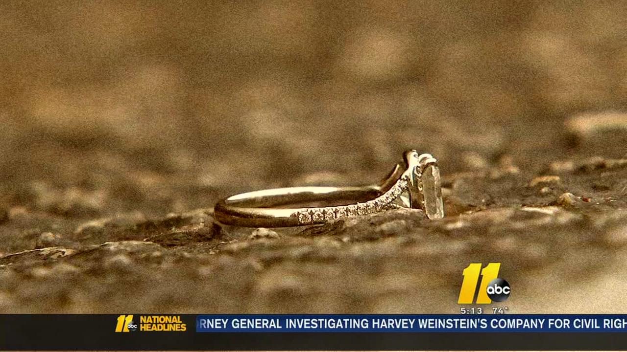 Raleigh woman reunited with lost engagement ring