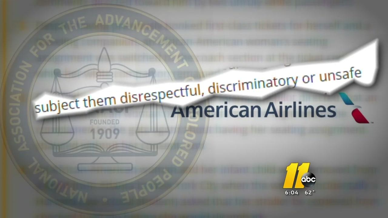 NC NAACP rails against American Airlines