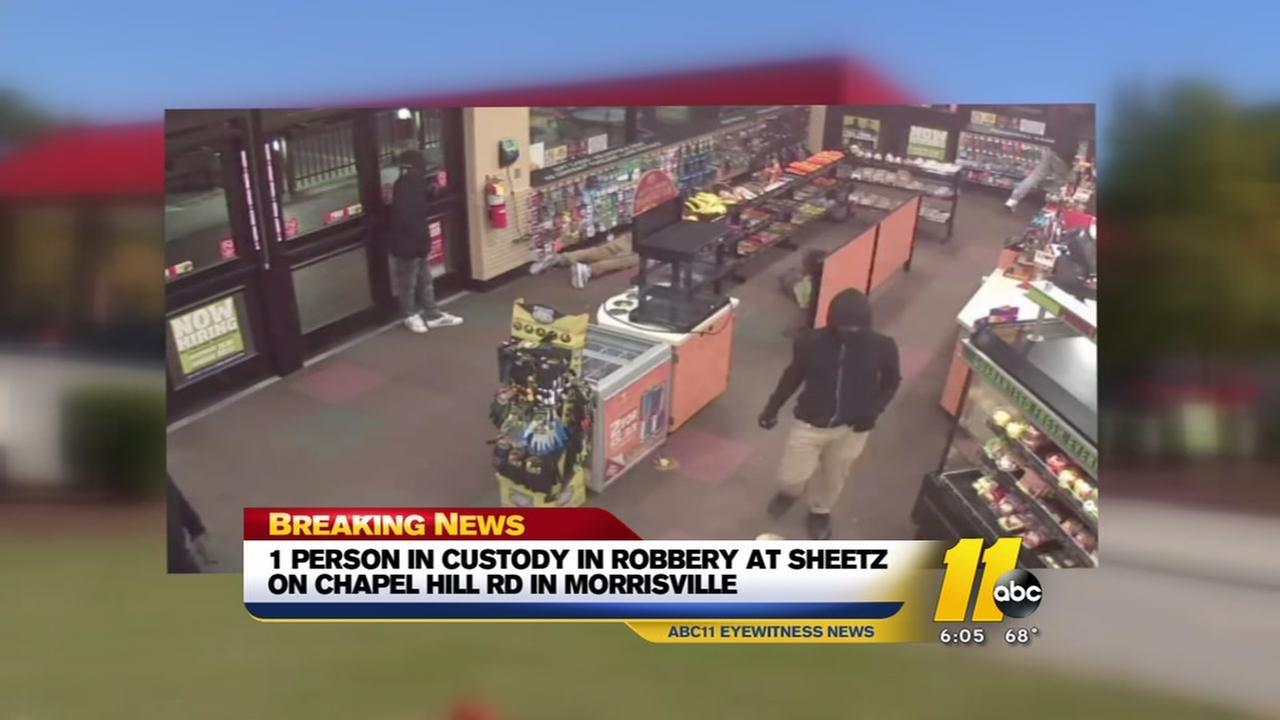 1 in custody in Morrisville Sheetz robbery