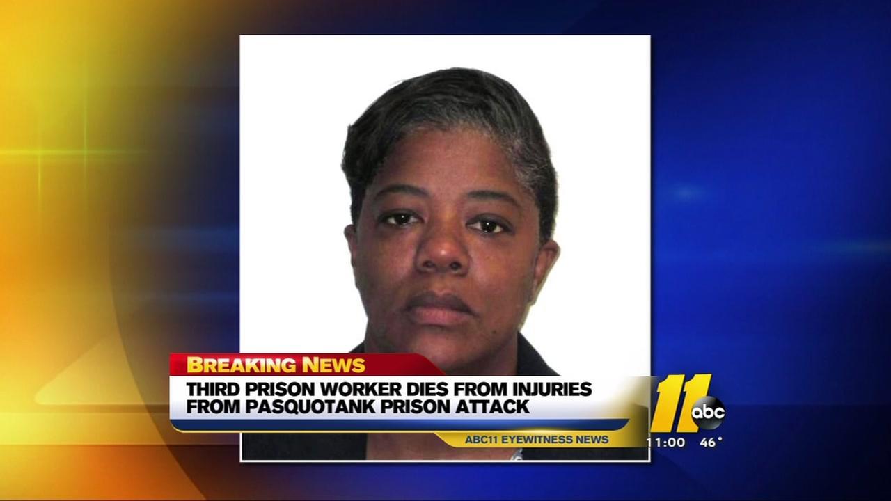 Third prison worker dies after attack