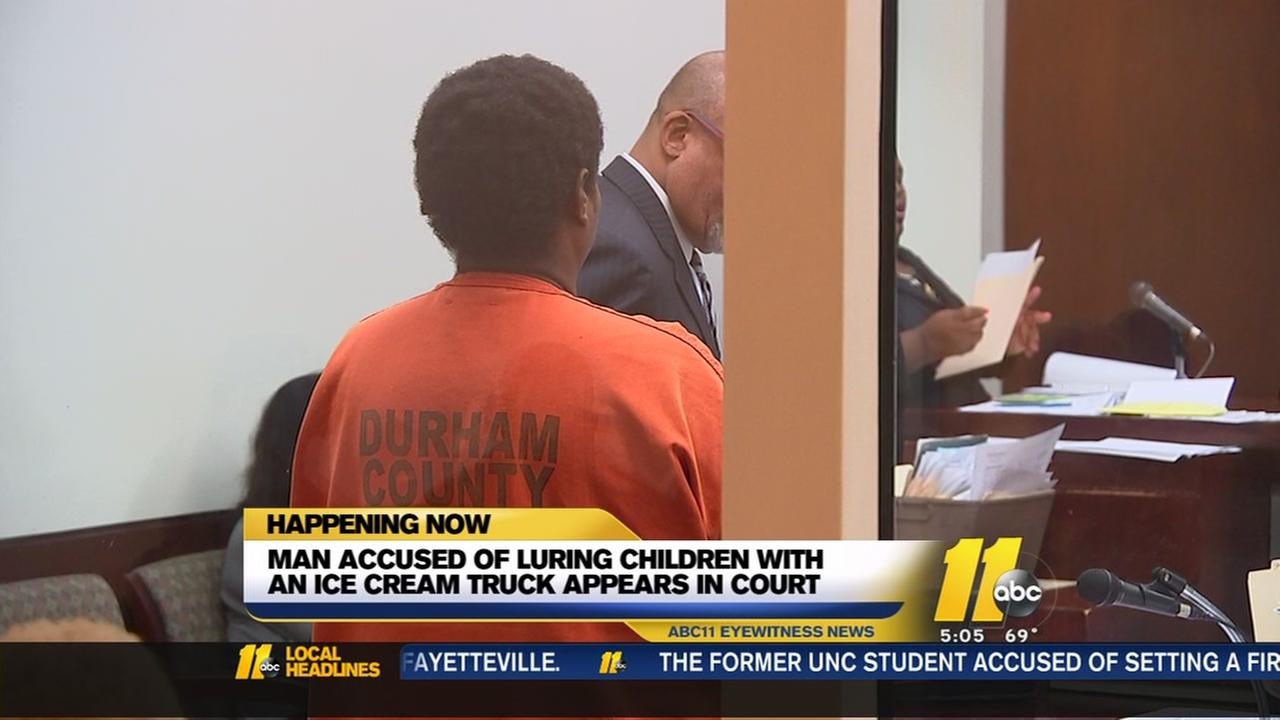 Ice cream truck driver accused of luring children appears in court