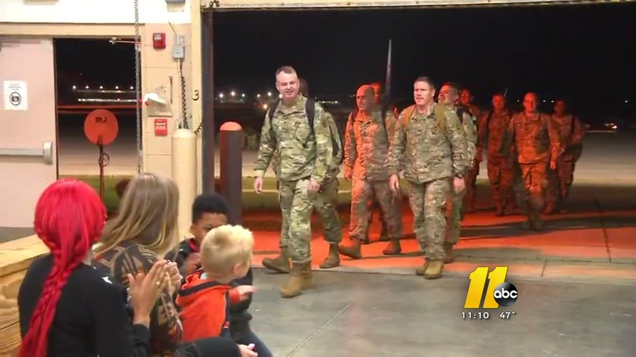 Soldiers return to Fort Bragg from Puerto Rico