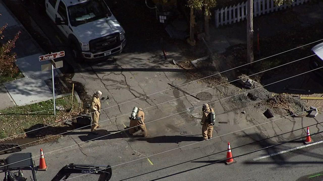 Gas leak north of downtown Raleigh