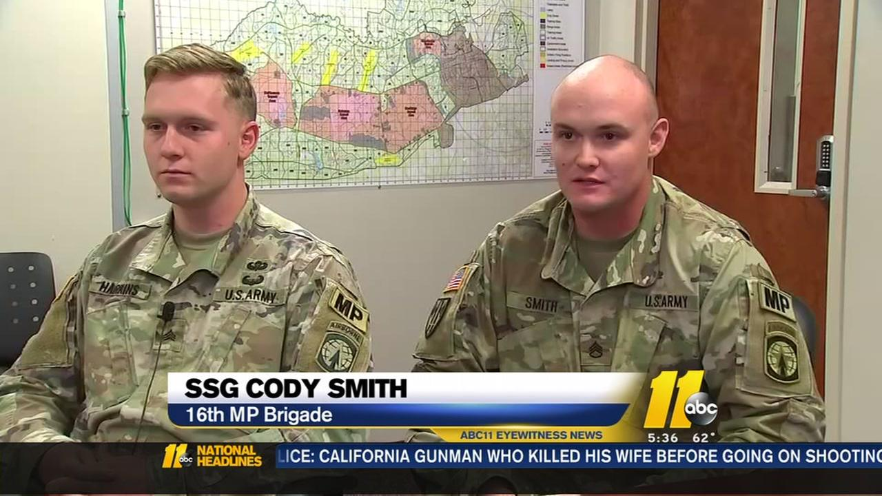 Military Police helping save lives