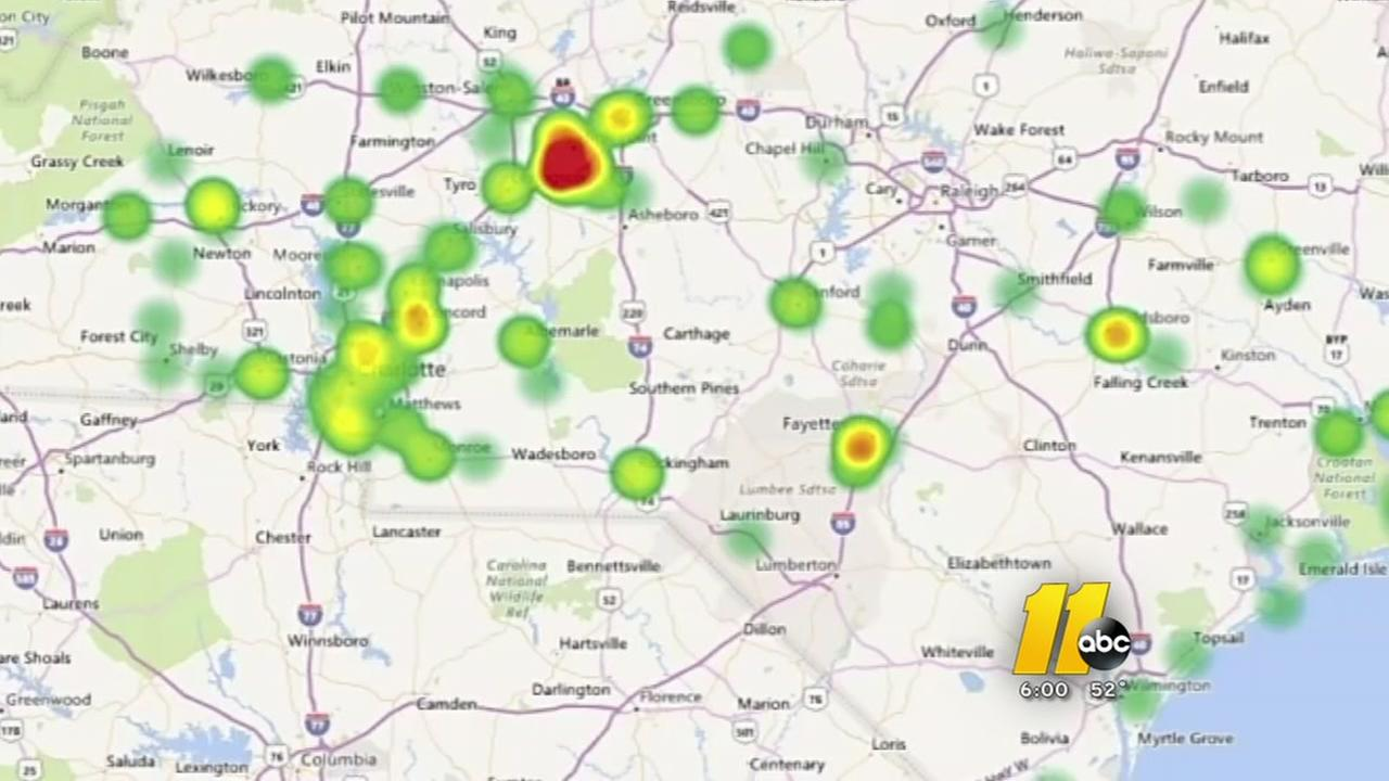 Heat map shows hot spots for opioids