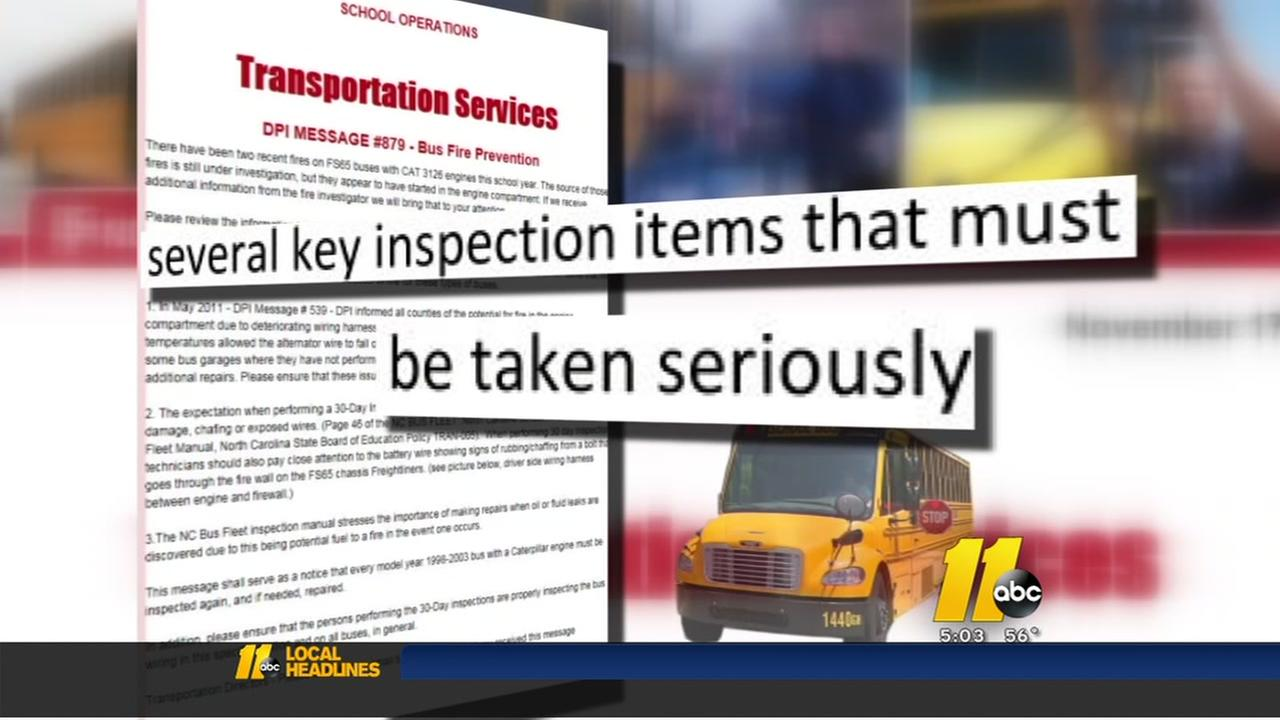 School districts told to check buses after fires