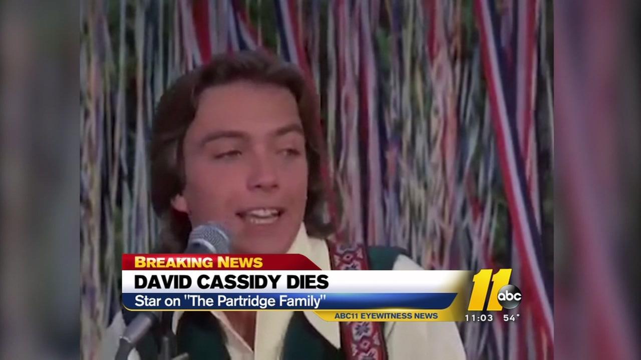 David Cassidy dies at 67