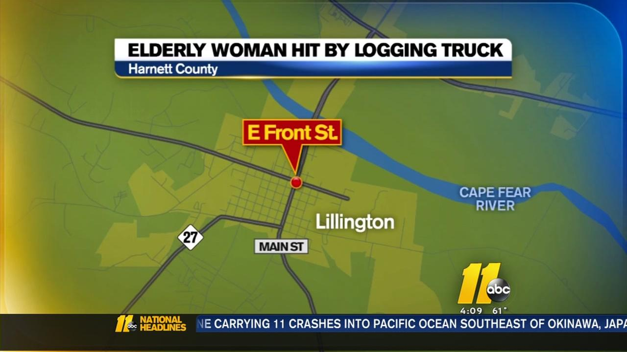 74-year-old woman hit, killed in Lillington intersection by logging truck