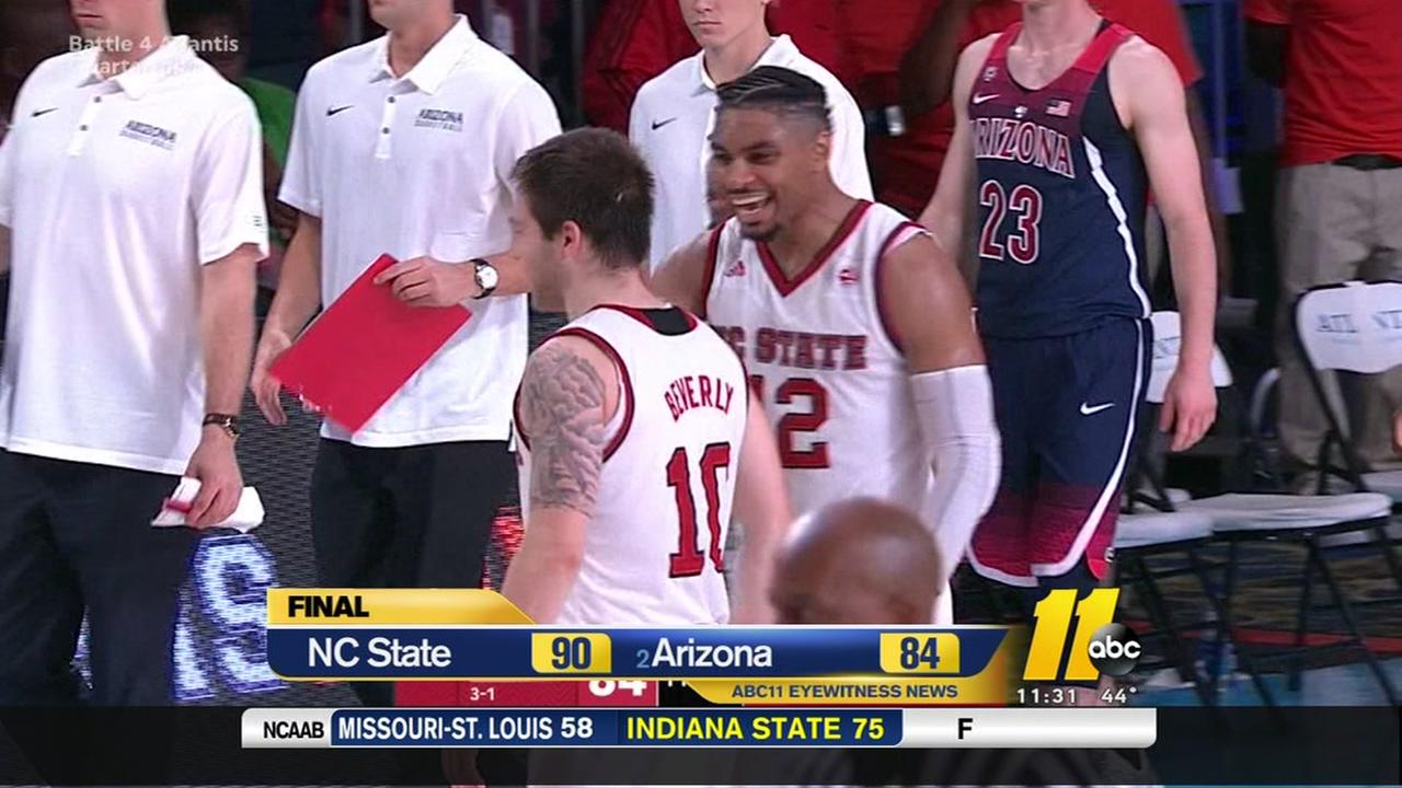 NC State stuns No. 2 Arizona