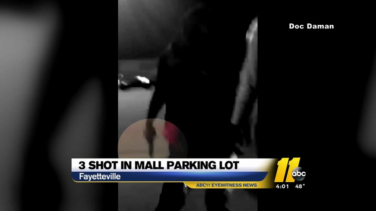 Three shot in Fayetteville mall parking lot
