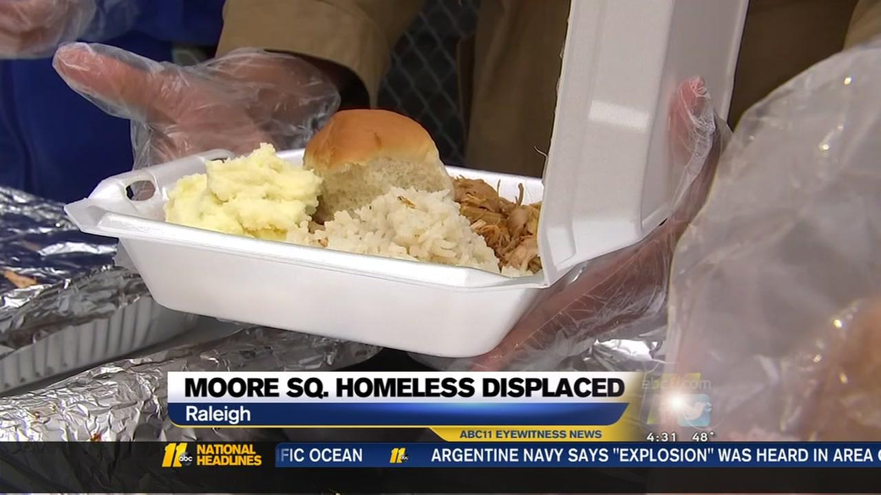 Volunteers provided meals for Moore Squares displaced homeless