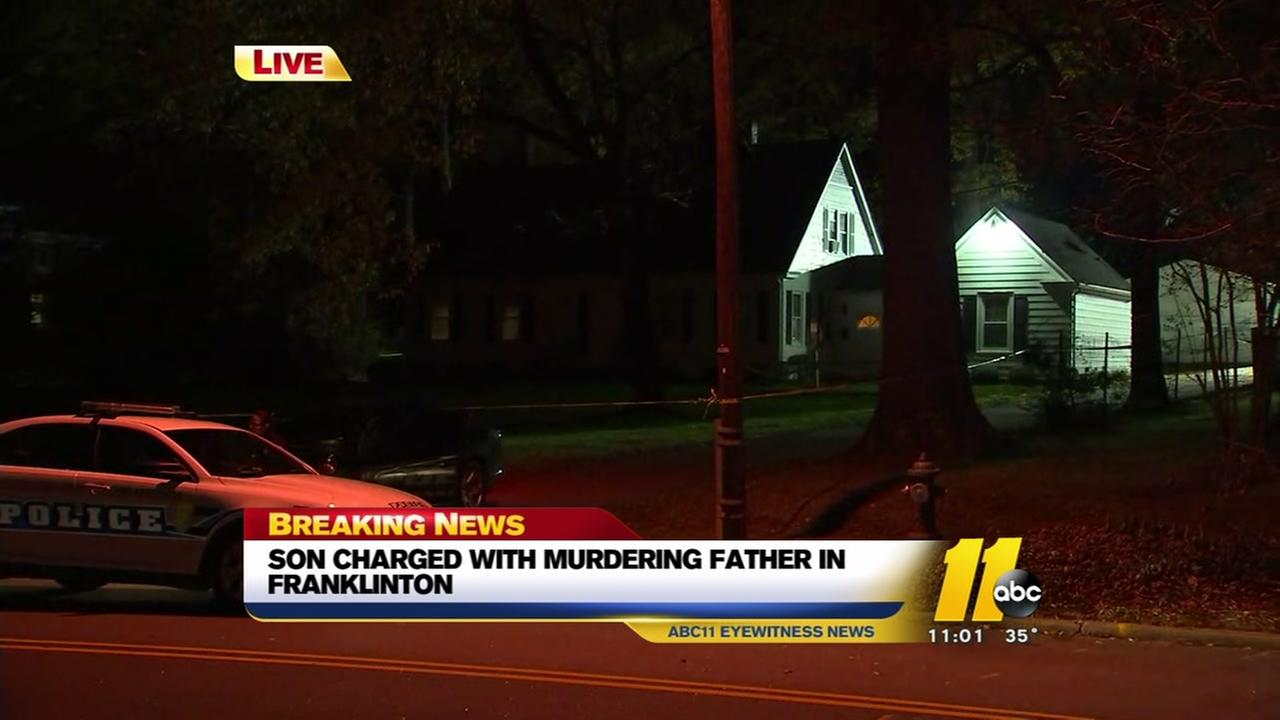 Son charged with murder in death of Franklinton man
