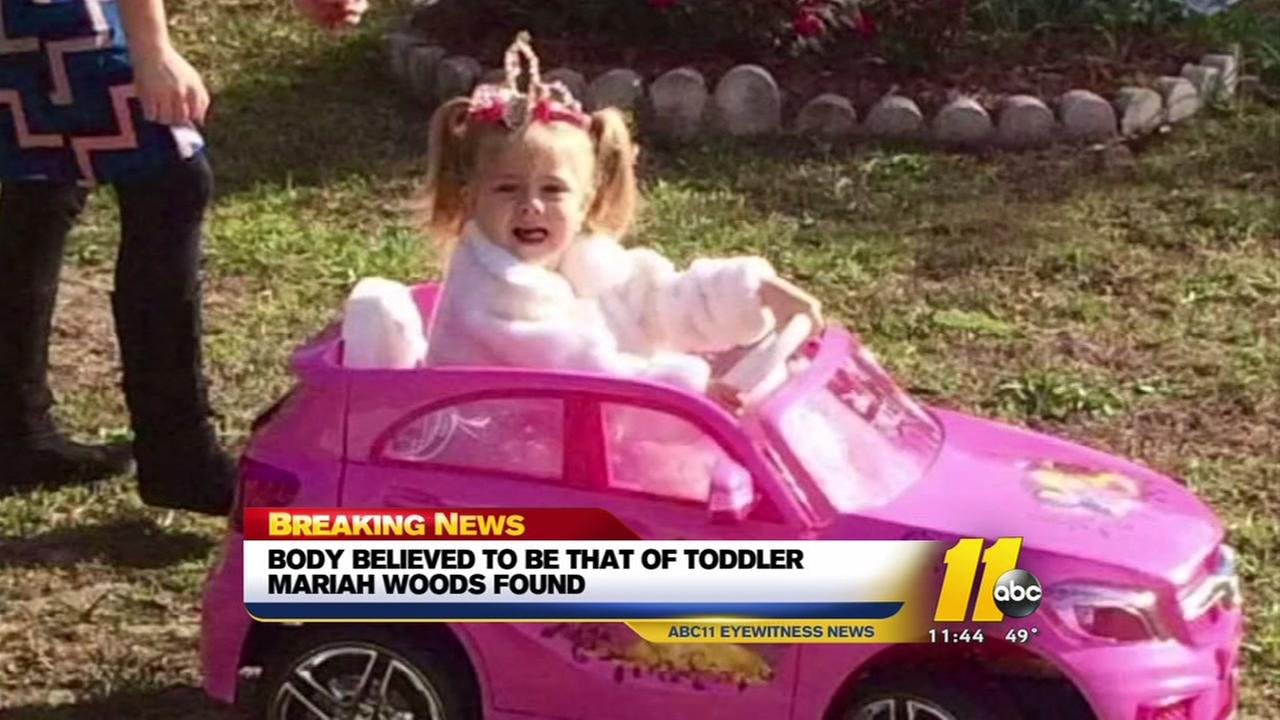 Authorities believed to have found remains of 3-year-old Mariah Woods