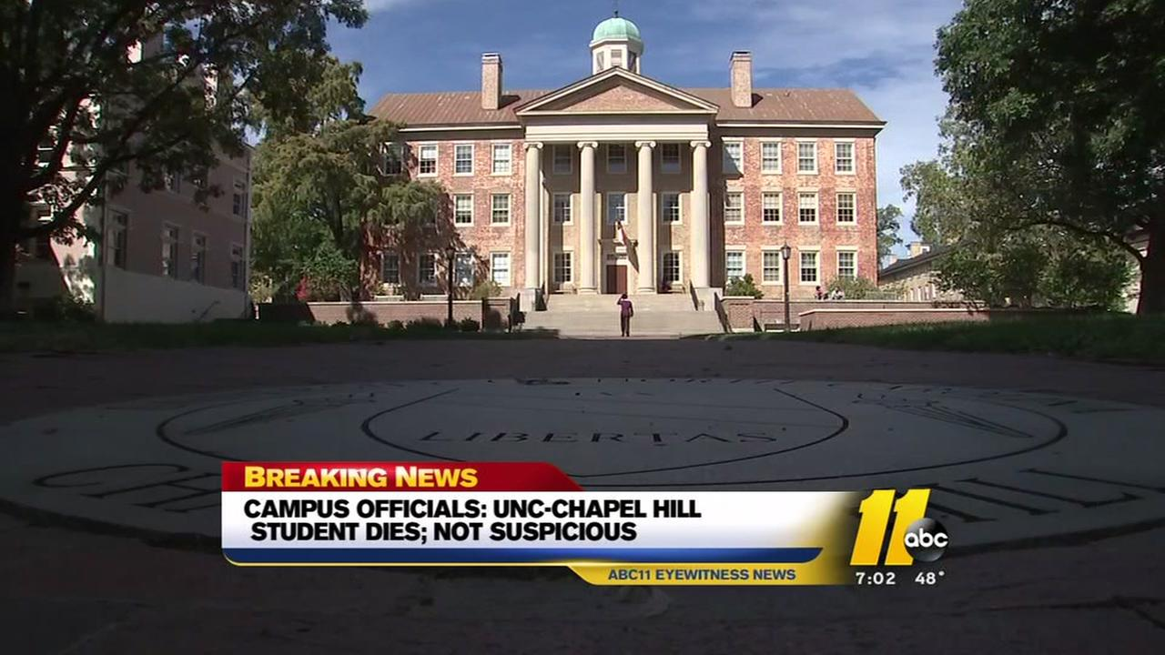 Student from UNC dies.