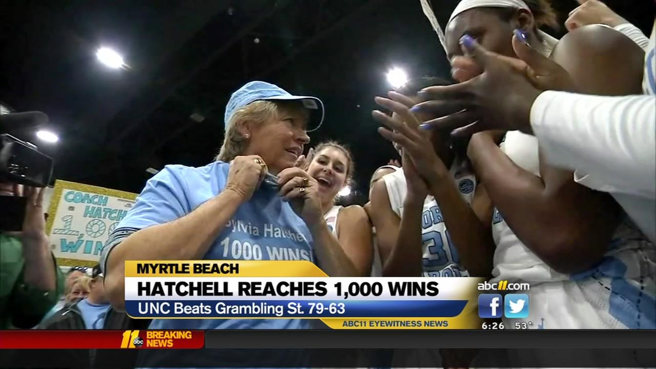 UNCs Sylvia Hatchell wins 1,000th game