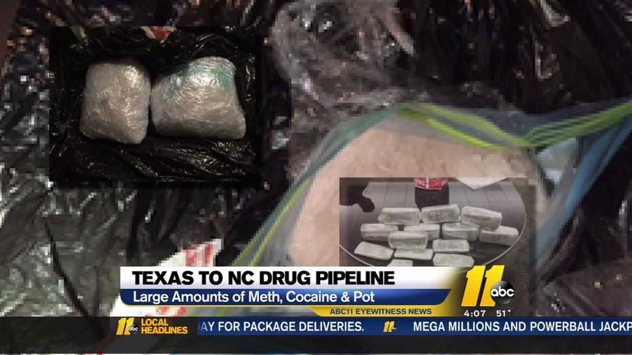 Major drugbust in Texas-to-NC pipeline