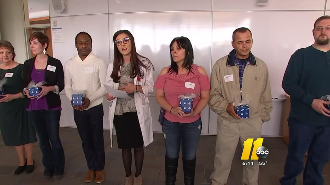 Three kidney patients meet their donors at Duke
