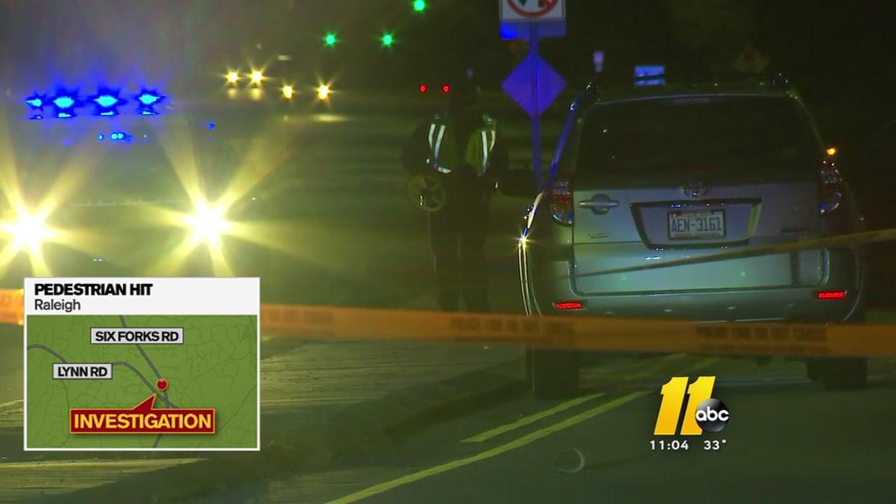 Pedestrian struck on Six Forks Road