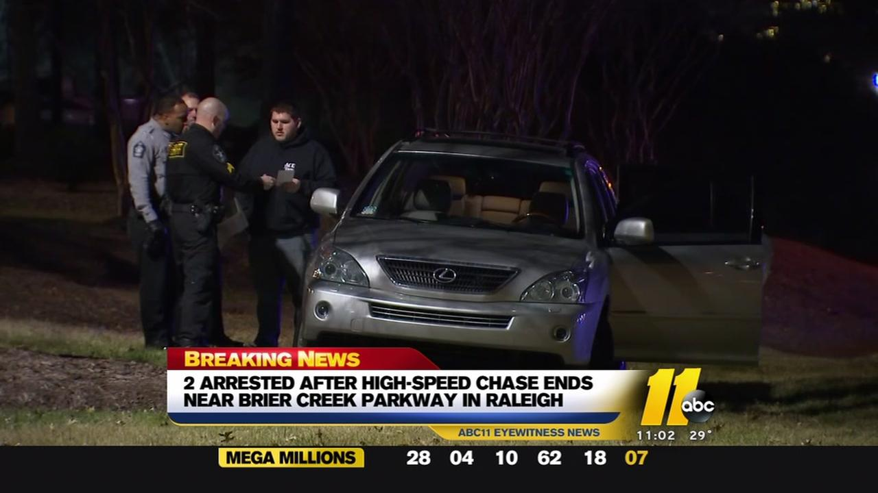 Two arrested after high-speed chase in Raleigh