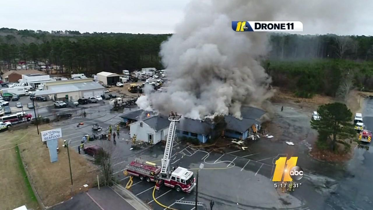 Former restaurant goes up in flames